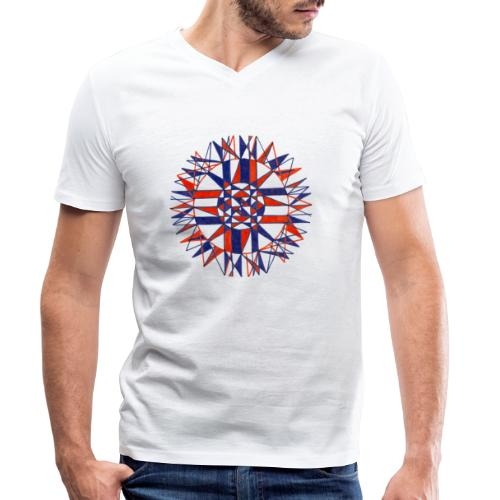 Cycles of Time - Men's Organic V-Neck T-Shirt by Stanley & Stella