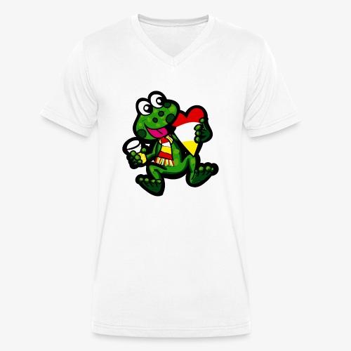 Oeteldonk Kikker - Mannen bio T-shirt met V-hals van Stanley & Stella