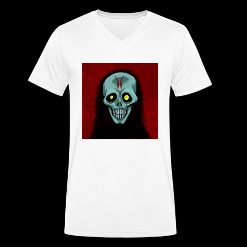 Ghost skull - Men's Organic V-Neck T-Shirt by Stanley & Stella
