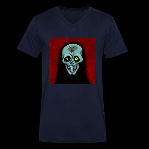 Ghost skull - Men's Organic V-Neck T-Shirt by Stanley & Stella