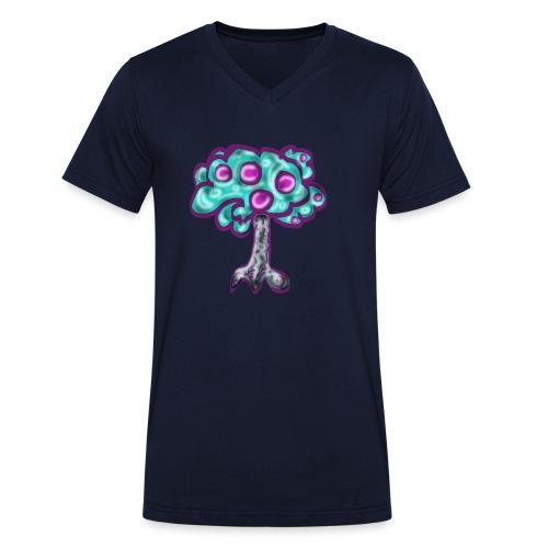 Neon Tree - Men's Organic V-Neck T-Shirt by Stanley & Stella