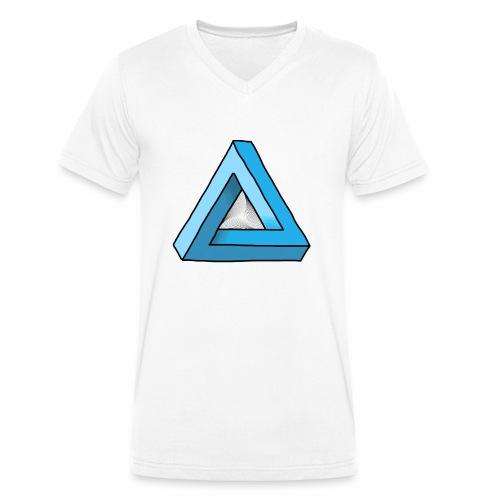 Triangular - Männer Bio-T-Shirt mit V-Ausschnitt von Stanley & Stella