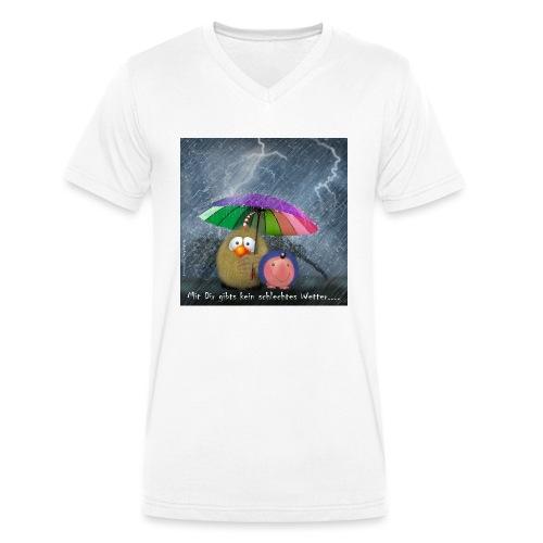 Rusty geht raus - Männer Bio-T-Shirt mit V-Ausschnitt von Stanley & Stella
