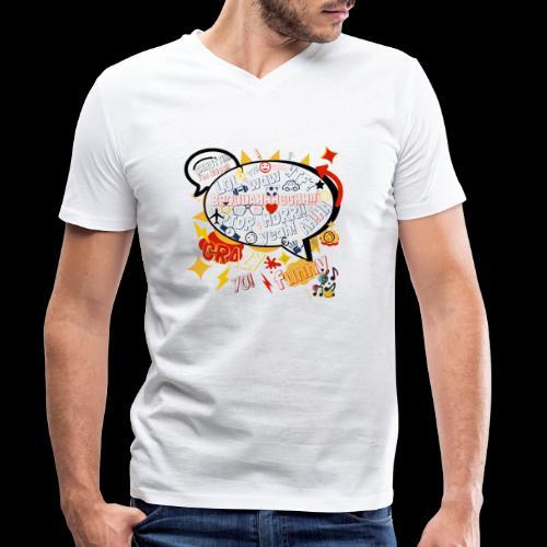 crazystreettalk - T-shirt bio col V Stanley & Stella Homme