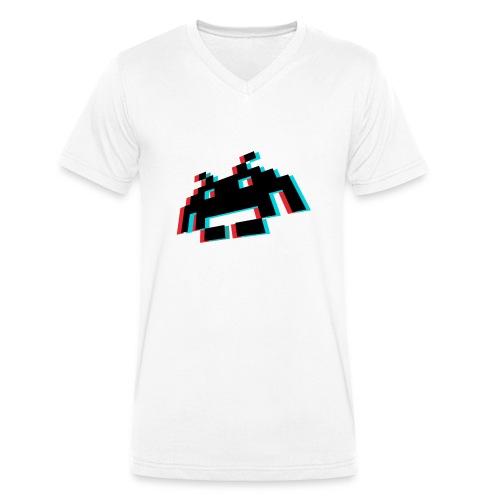 invader3dschwarz1 - Männer Bio-T-Shirt mit V-Ausschnitt von Stanley & Stella