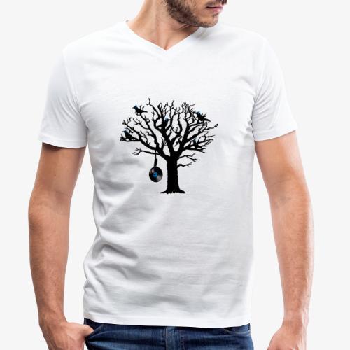 Musical Birds in Tree 2 blau Hangman Vinyl - Männer Bio-T-Shirt mit V-Ausschnitt von Stanley & Stella