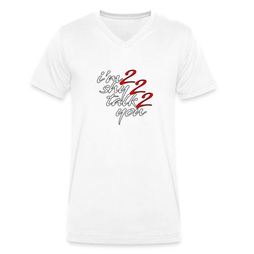 I'm2Shy2Talk2You - Männer Bio-T-Shirt mit V-Ausschnitt von Stanley & Stella