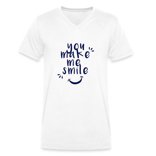 Smile.png - Männer Bio-T-Shirt mit V-Ausschnitt von Stanley & Stella