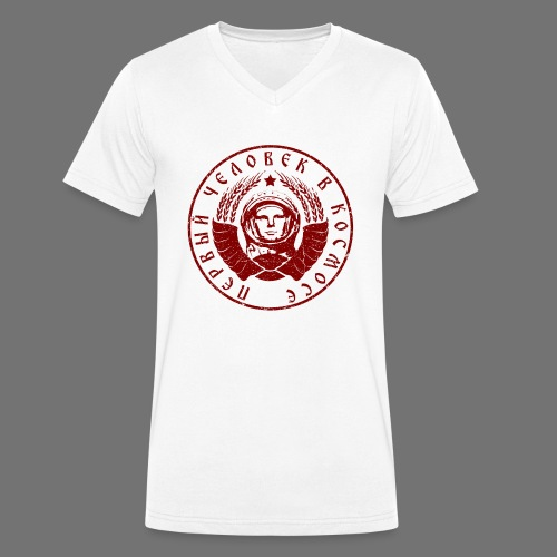Cosmonaut 1c red (oldstyle) - Men's Organic V-Neck T-Shirt by Stanley & Stella