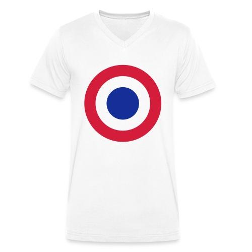 FFI Logo 2 manche - T-shirt bio col V Stanley & Stella Homme