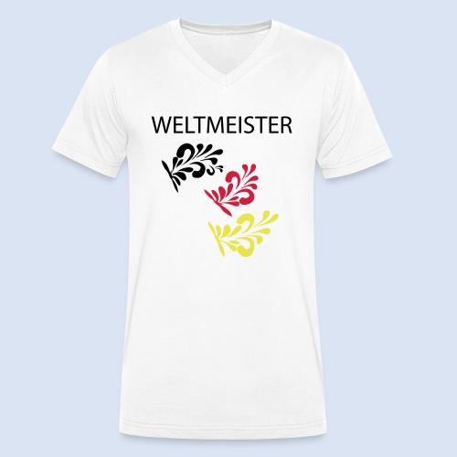 Frankfurt Bembelschwung - Männer Bio-T-Shirt mit V-Ausschnitt von Stanley & Stella