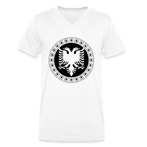 Albanien Schweiz Shirt - Männer Bio-T-Shirt mit V-Ausschnitt von Stanley & Stella