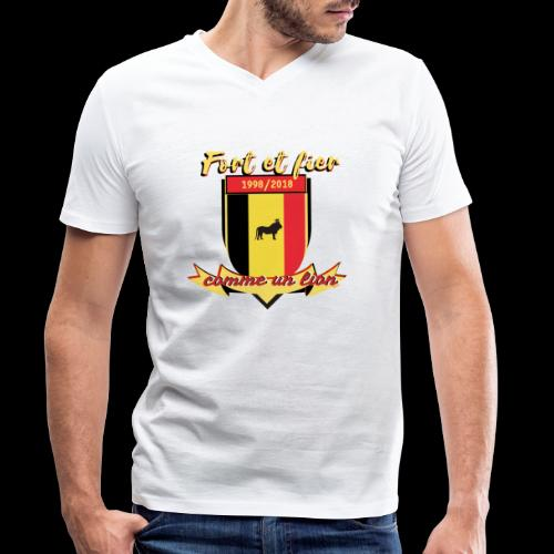 belgique foot coupe du monde - T-shirt bio col V Stanley & Stella Homme