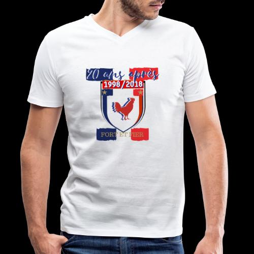 france FRANCE foot coupe du monde football - T-shirt bio col V Stanley & Stella Homme
