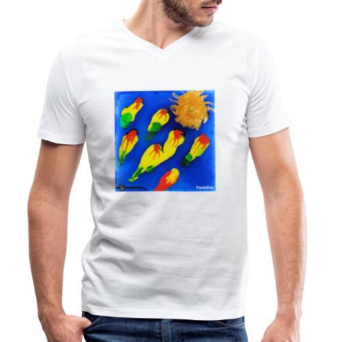 TIAN GREEN Mosaik DK035 - Paradise - Männer Bio-T-Shirt mit V-Ausschnitt von Stanley & Stella