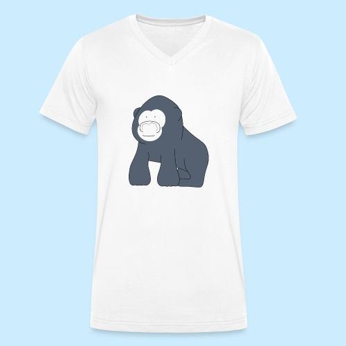 Baby Gorilla - Men's Organic V-Neck T-Shirt by Stanley & Stella