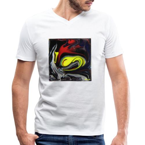 TIAN GREEN Mosaik DK039 - Beauty - Männer Bio-T-Shirt mit V-Ausschnitt von Stanley & Stella
