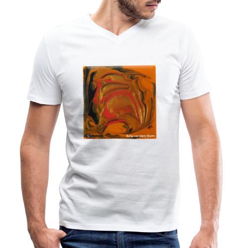 TIAN GREEN Mosaik DK040 - Ruhe vor dem Sturm - Männer Bio-T-Shirt mit V-Ausschnitt von Stanley & Stella