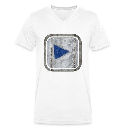 hier entlang ! - Männer Bio-T-Shirt mit V-Ausschnitt von Stanley & Stella