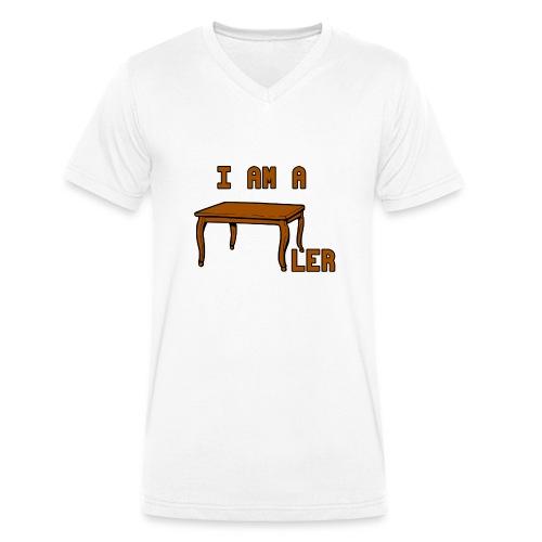 i am a Tischler - Männer Bio-T-Shirt mit V-Ausschnitt von Stanley & Stella