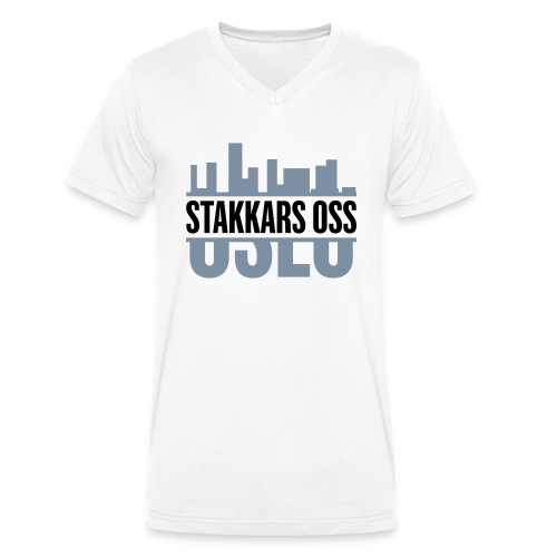stakkars oss logo 2 ny - Økologisk T-skjorte med V-hals for menn fra Stanley & Stella