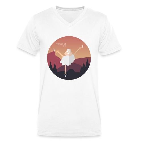 Vektorfåret - Ekologisk T-shirt med V-ringning herr från Stanley & Stella