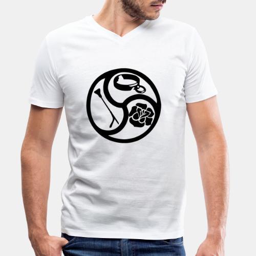 Triskele triskelion BDSM Emblem HiRes 1 color - Männer Bio-T-Shirt mit V-Ausschnitt von Stanley & Stella