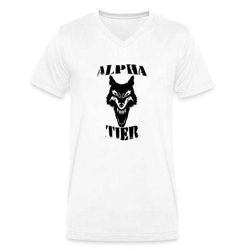 T- Shirt Alpha Tier - Männer Bio-T-Shirt mit V-Ausschnitt von Stanley & Stella