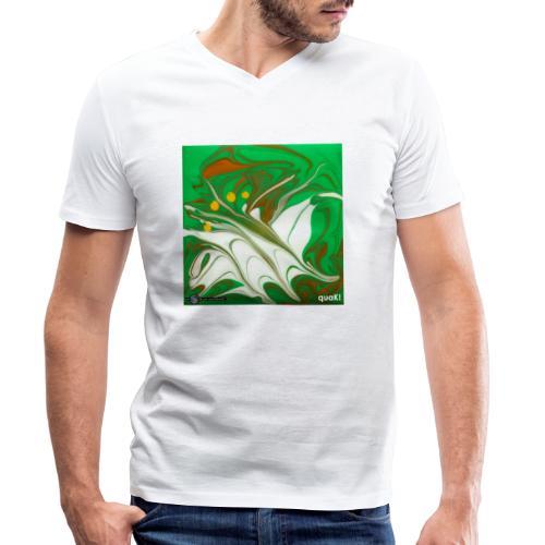 TIAN GREEN Mosaik CG002 - quaKI - Männer Bio-T-Shirt mit V-Ausschnitt von Stanley & Stella