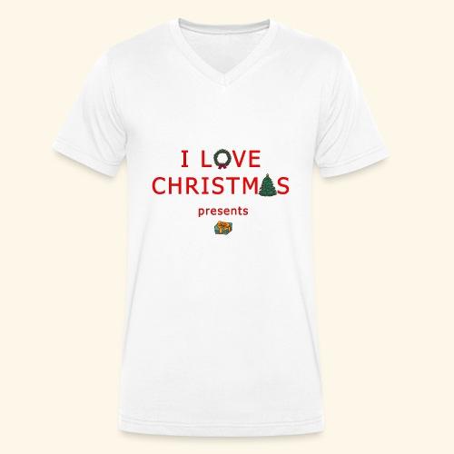 I love christmas presents - Men's Organic V-Neck T-Shirt by Stanley & Stella