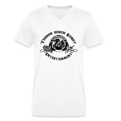 tdklogoschwarz 3 - Männer Bio-T-Shirt mit V-Ausschnitt von Stanley & Stella