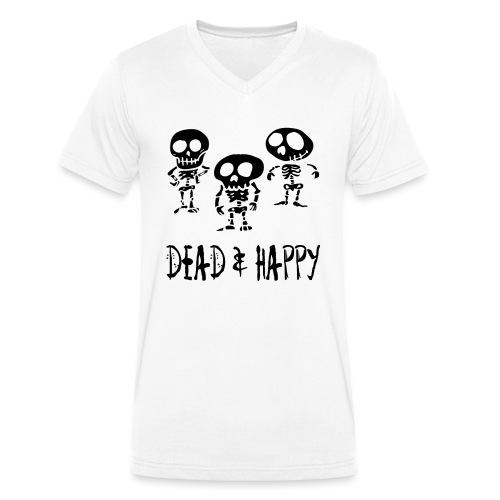 dead & happy - Männer Bio-T-Shirt mit V-Ausschnitt von Stanley & Stella