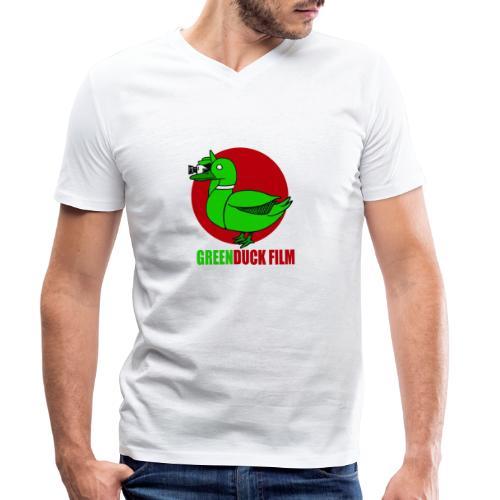 Greenduck Film Red Sun Logo - Økologisk Stanley & Stella T-shirt med V-udskæring til herrer
