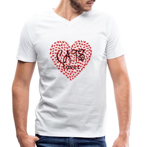 cats lover - Männer Bio-T-Shirt mit V-Ausschnitt von Stanley & Stella