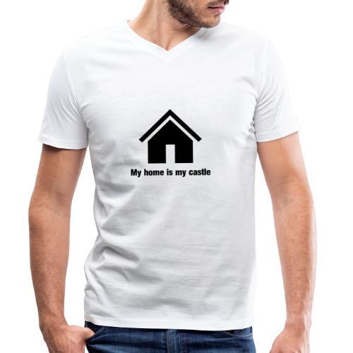 My home is my castle - Männer Bio-T-Shirt mit V-Ausschnitt von Stanley & Stella