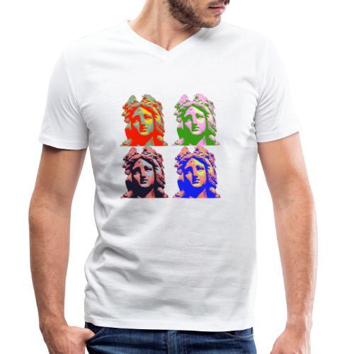 Germania Popart Groß - Männer Bio-T-Shirt mit V-Ausschnitt von Stanley & Stella