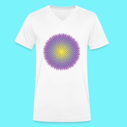 Fibonacci based image with radiating elements - Men's Organic V-Neck T-Shirt by Stanley & Stella