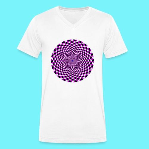 Mandala figure from rhombus shapes - Men's Organic V-Neck T-Shirt by Stanley & Stella