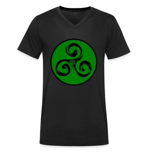 Triskel and Spiral - Camiseta ecológica hombre con cuello de pico de Stanley & Stella