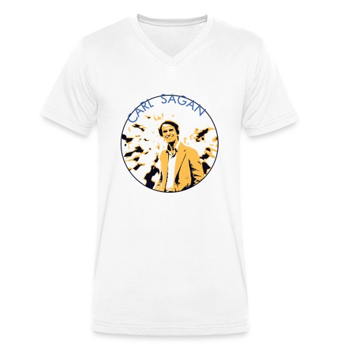 Vintage Carl Sagan - Men's Organic V-Neck T-Shirt by Stanley & Stella
