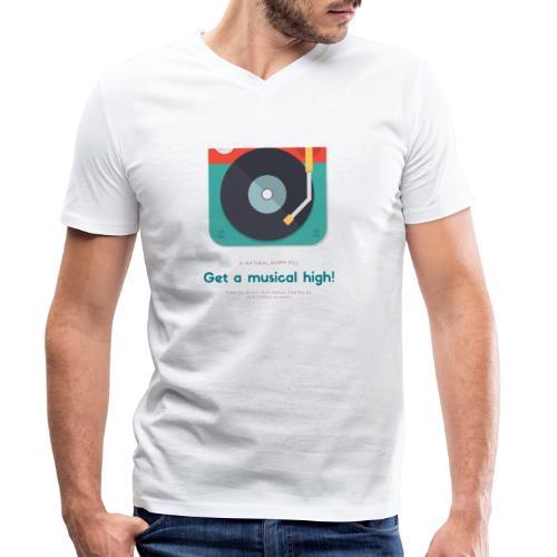 Get a music hight! - T-shirt ecologica da uomo con scollo a V di Stanley & Stella