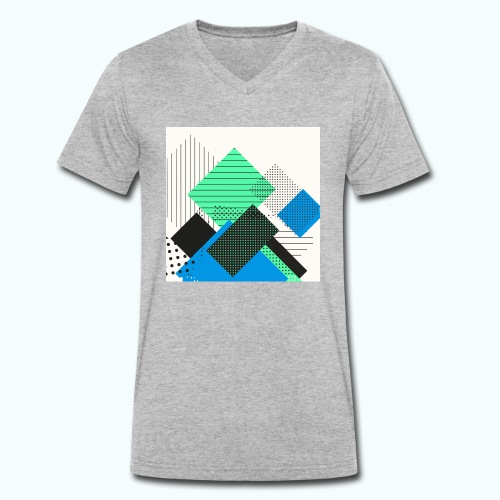 Abstract rectangles pastel - Men's Organic V-Neck T-Shirt by Stanley & Stella