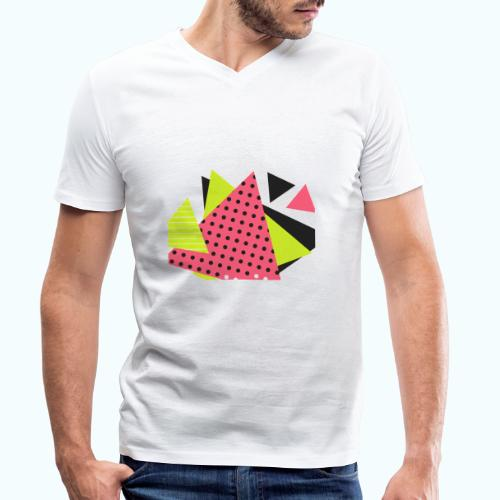 Neon geometry shapes - Men's Organic V-Neck T-Shirt by Stanley & Stella