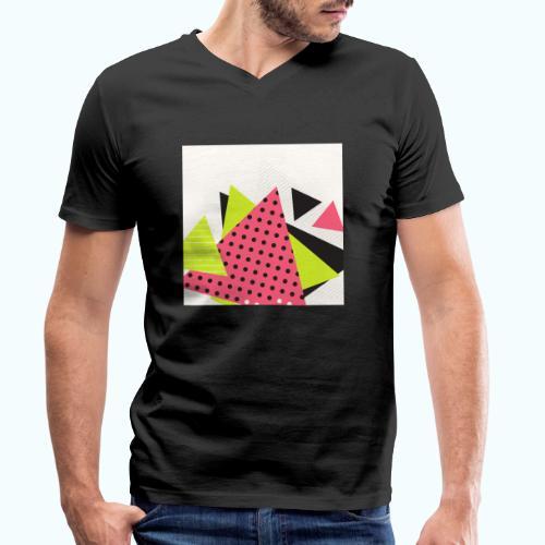 Neon geometry shapes - Men's Organic V-Neck T-Shirt by Stanley & Stella