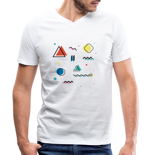 Abstract geometry - Men's Organic V-Neck T-Shirt by Stanley & Stella