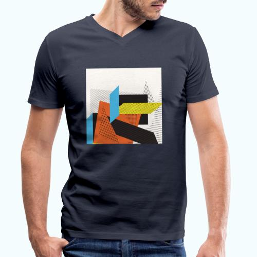 Vintage shapes abstract - Men's Organic V-Neck T-Shirt by Stanley & Stella