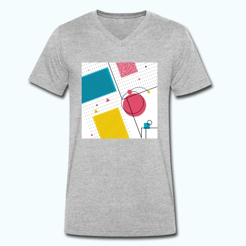 Colors shapes abstract - Men's Organic V-Neck T-Shirt by Stanley & Stella