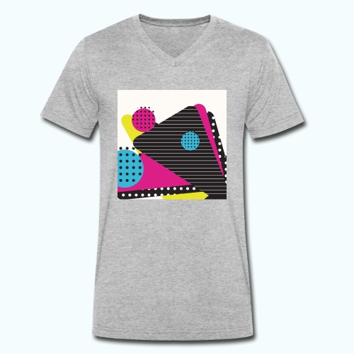 Abstract vintage shapes pink - Men's Organic V-Neck T-Shirt by Stanley & Stella