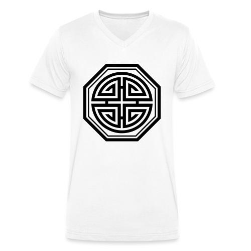 Four blessings, Chinesisches Glücks Symbol, Segen - Männer Bio-T-Shirt mit V-Ausschnitt von Stanley & Stella
