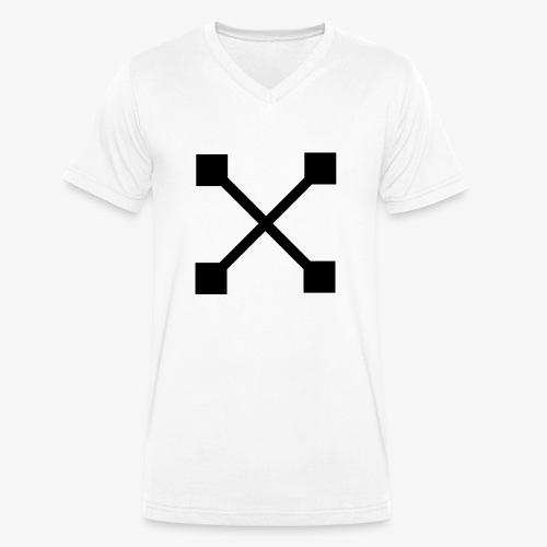 X BLK - Männer Bio-T-Shirt mit V-Ausschnitt von Stanley & Stella